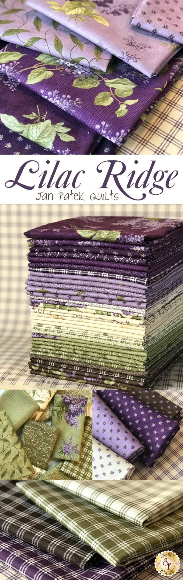 Lilac Ridge by Jan Patek is a beautiful collection from Moda Fabrics available at Shabby Fabrics