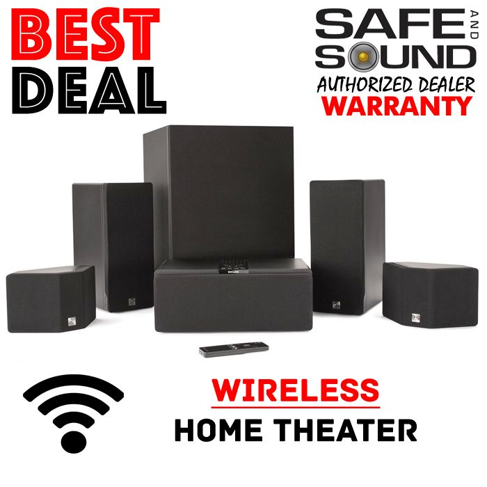 SALE ENCLAVE AUDIO CineHome HD WIRELESS 5.1 HOME THEATER SYSTEM PACKAGE