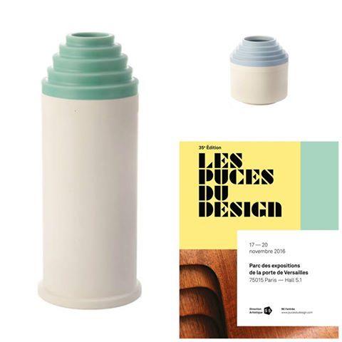 Ceramic vases Ettore Sottsass Bitossi 1976 Vase cm 24 H Vase cm 37 H  #Sottsass #Vase #Ceramic #Bitossi #Paris LES PUCES DU DESIGN