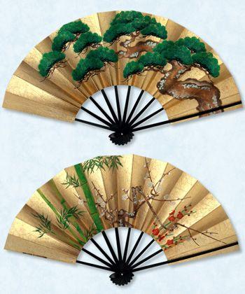Japanese folding paper fans