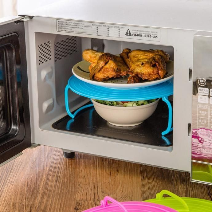 microwave plate rack cover