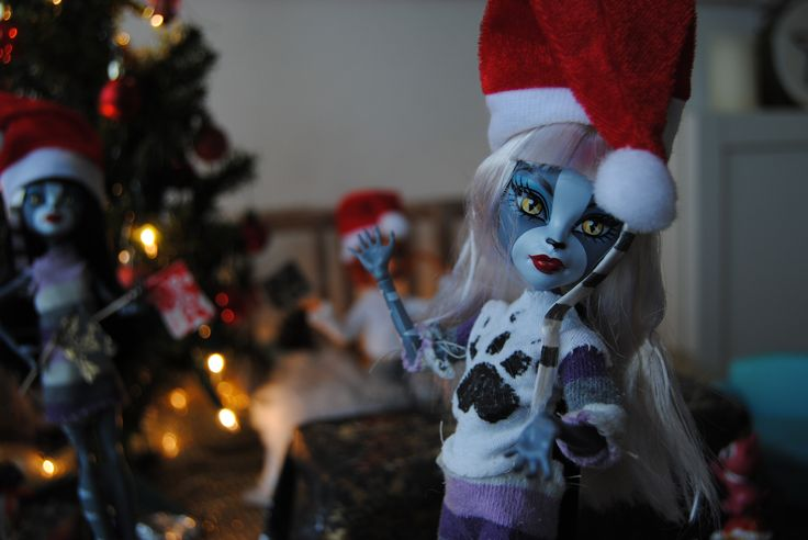Kerst met Monster High met zelfgemaakte kleding