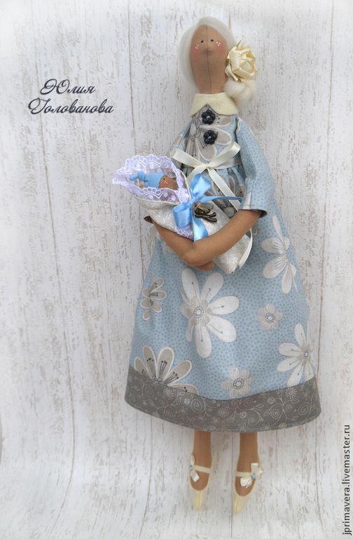ангел материнства, тильда кукла, кукла тильда, тильда ангел, подарок на рождение, подарок молодой маме, Юлия Голованова, Ярмарка мастеров