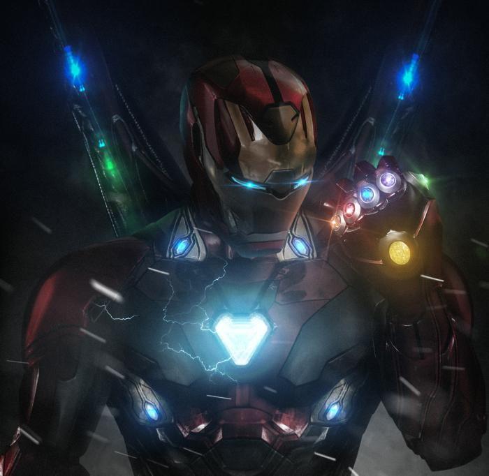 Tony Stark With Infinity Stones