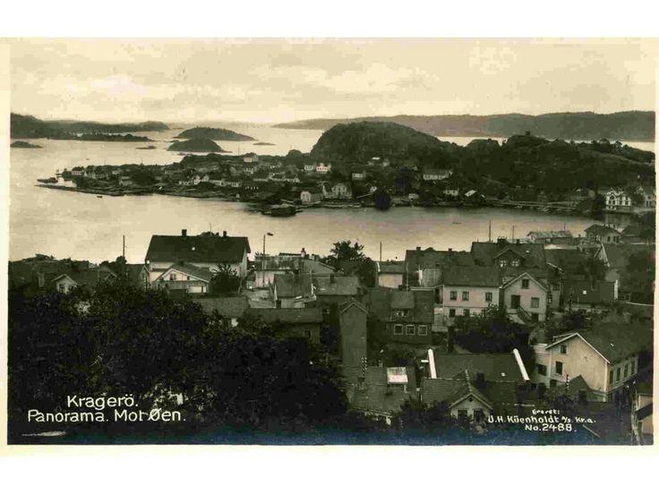 Kragerø i Telemark fylke Panorama mot Øen utg Küenholdt