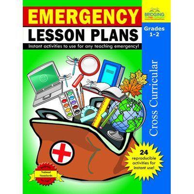 Milliken & Lorenz Educational Press Emergency Lesson Plans Grade 1 - 2 Book