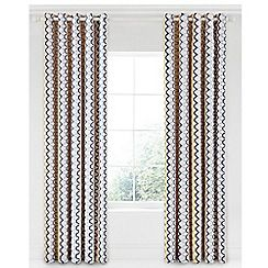 Scion - Multicoloured cotton panama 'Kukkia' lined curtains