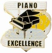 Buy Piano Excellence Award Pin | Awards - Trophies | Music Buttons | -