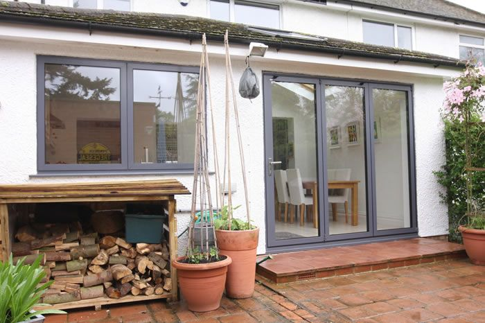 Contemporary Windows recent project – solarlux sl60e folding doors and contemporary