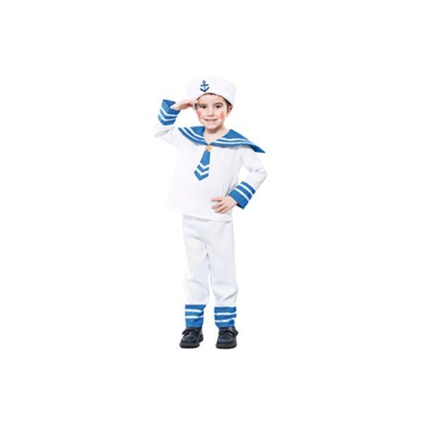 Matrozen pakje voor een peuter. Voordelig kostuum van een matroos voor peuters in de leeftijd van 2 tot 4 jaar. Het kostuum bestaat uit een shirt, broek en hoedje. Totale lengte van van het kostuum is ongeveer 92-104 cm. Carnavalskleding 2015 #carnaval