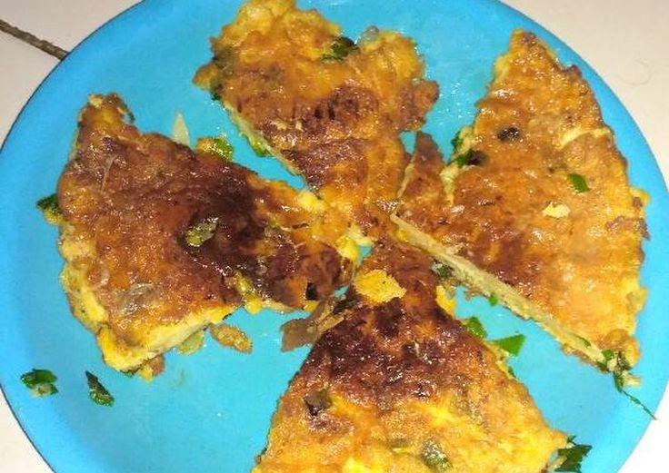 Telur dadar Padang wortel