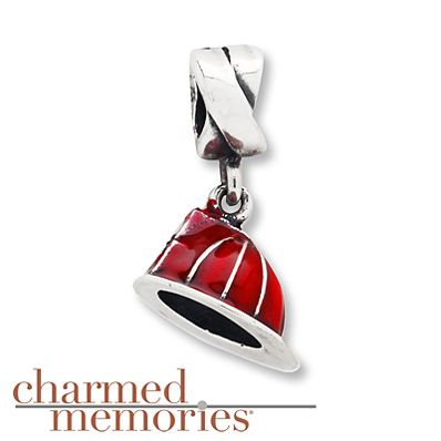 Charmed Memories Firefighter Hat Charm Sterling Silver