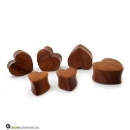 Heart Shaped Wooden Plugs