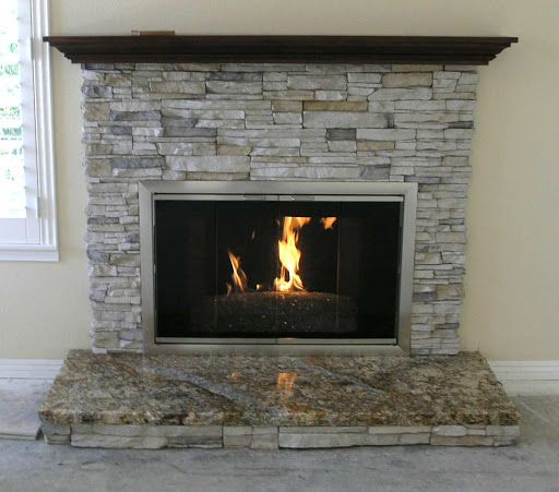 1000 ideas about granite hearth on pinterest stoves for Fireplace material options