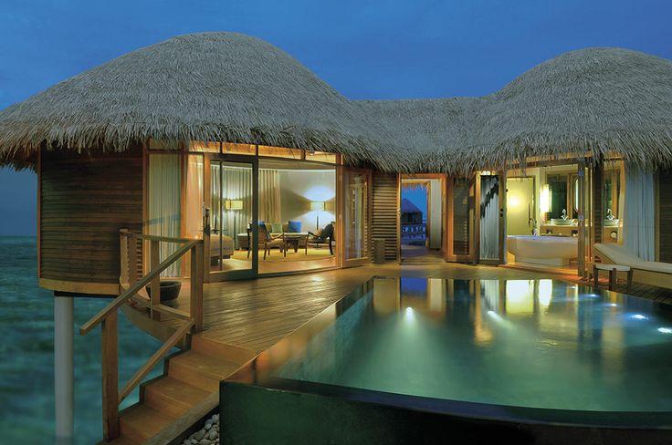 Constance Halaveli's water villas.