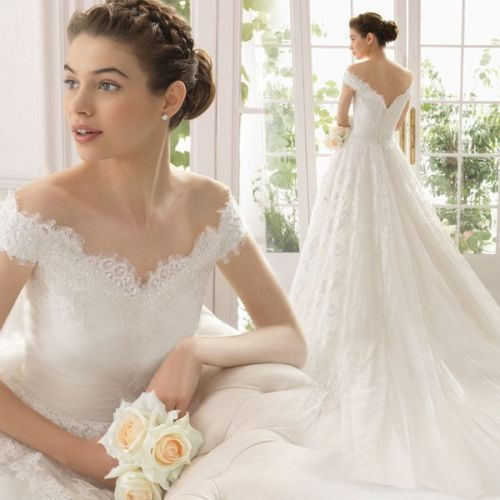 New White/Ivory Lace Wedding Dress Ball Gown Custom Size 2 -22 /best-selling