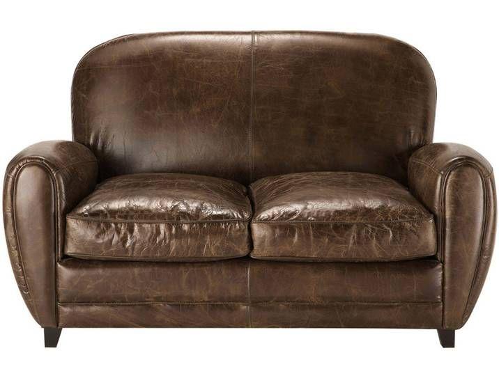 Vintage Sofa 2 Sitzer Aus Leder Braun Oxford Vintage Sofa Sofa Eclectic Decor