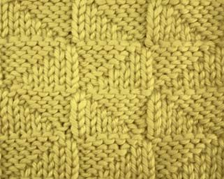 reversible knit stitch. forget whoever said it's hip to be a square. this is beautiful! Love this site