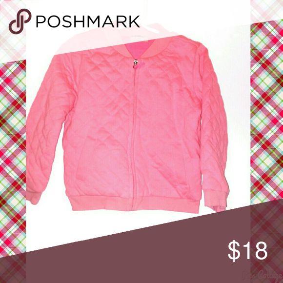 Genuine Kids Pink Zip Up Sweater NWOT. Genuine Kids from Oshkosh. Pink quilted Zip Up Sweater with pockets. Osh Kosh Jackets & Coats