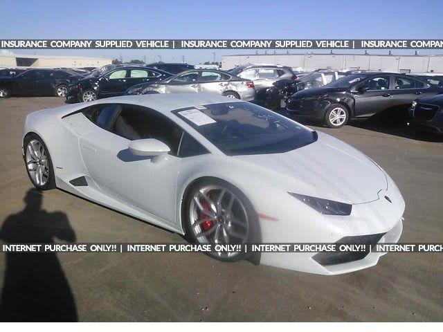 Salvage 2015 Lamborghini Huracan  Coupe For Sale | Certificate Of Destruction Title