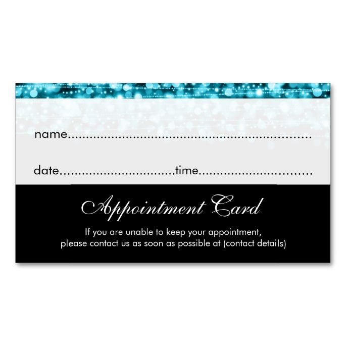 Business Card Appointment Template Images Images About - Appointment business card template