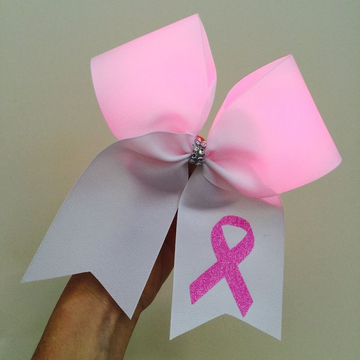 Light Up breast cancer Pink Ribbon Cheer Bow PINK LIGHTS! lights up!