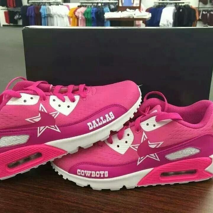 Hot pink Dallas Cowboys Nike Air Max!