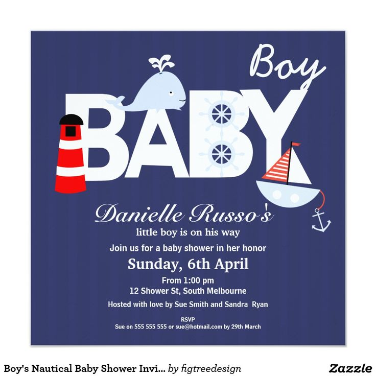 65 best boy baby shower invitations images on pinterest boy shower boys nautical baby shower invitation filmwisefo Choice Image