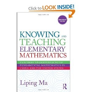 Knowing and teaching elementary math - a must read