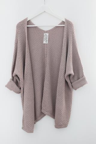 Mauve Indie Knit Cardigan $42