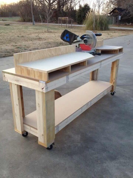 Miter Saw Workbench Woodworking Projects Amp Plans