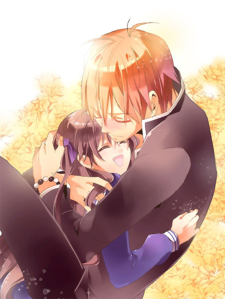Fruits Basket - Tohru x Kyo: I love how protective he looks in this picture!