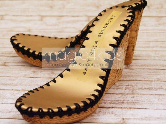 Suole per i propri progetti di scarpe, suole Zeppe Zeppe con solette pronti