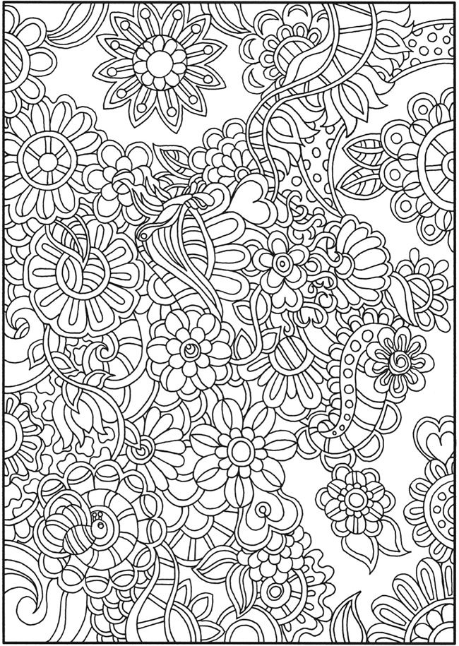 Creative Haven Dream Doodles Coloring Sheets Dover Publications