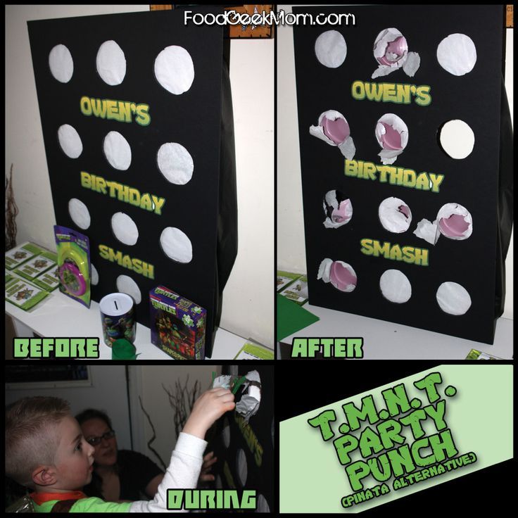 Owen's TMNT Party | Food Geek Mom - Who needs a pinata when you can have a Party Punch!