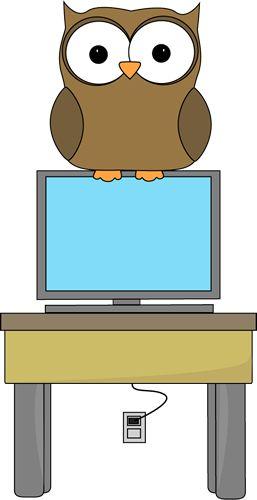 Owl Classroom Computer Technology Expert Clip Art - Owl Classroom Computer Technology Expert Vector Image