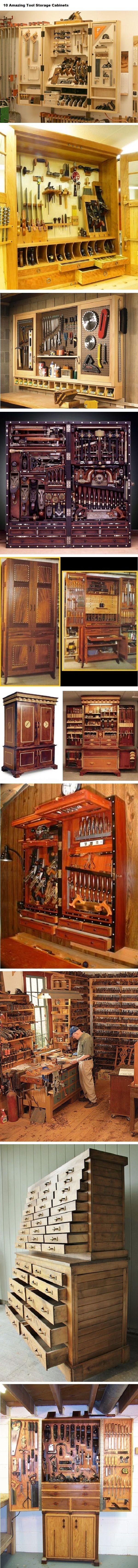 10 Amazing Tool Storage Cabinets. | WoodworkerZ.com