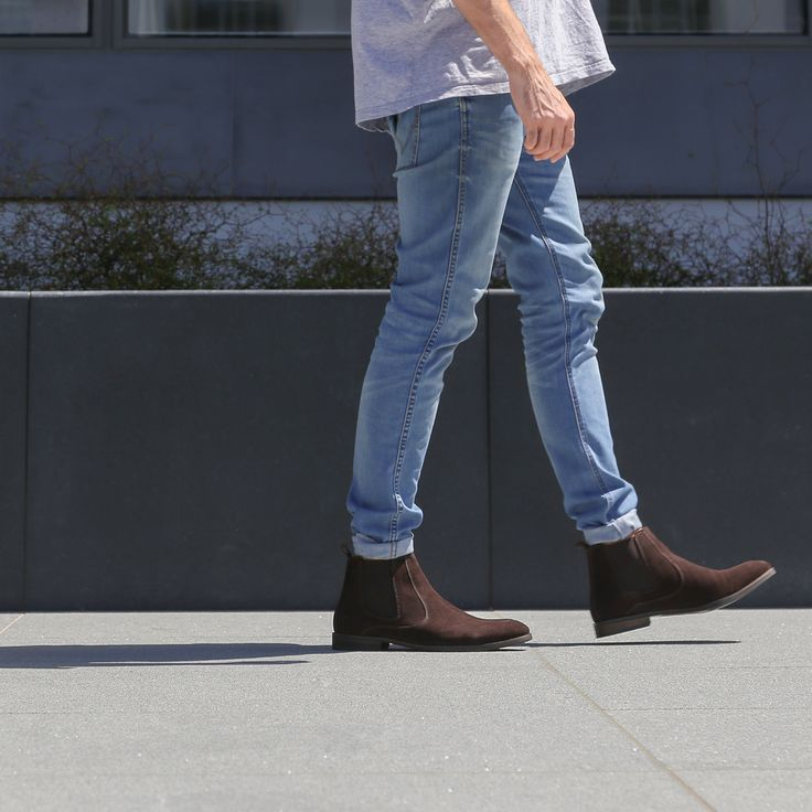 Perfect urban style with the Peter James 'Phoenix' slip-on ankle boot in dark brown. Shop: https://www.shoeconnection.co.nz/mens/boots/slip-on-boots/peter-james-phoenix-slip-on-ankle-boot?c=Brown