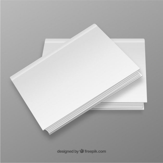 Blank book covers Free Vector