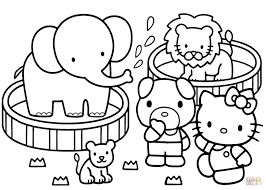 Free Hello Kitty Coloring Pages For Girls