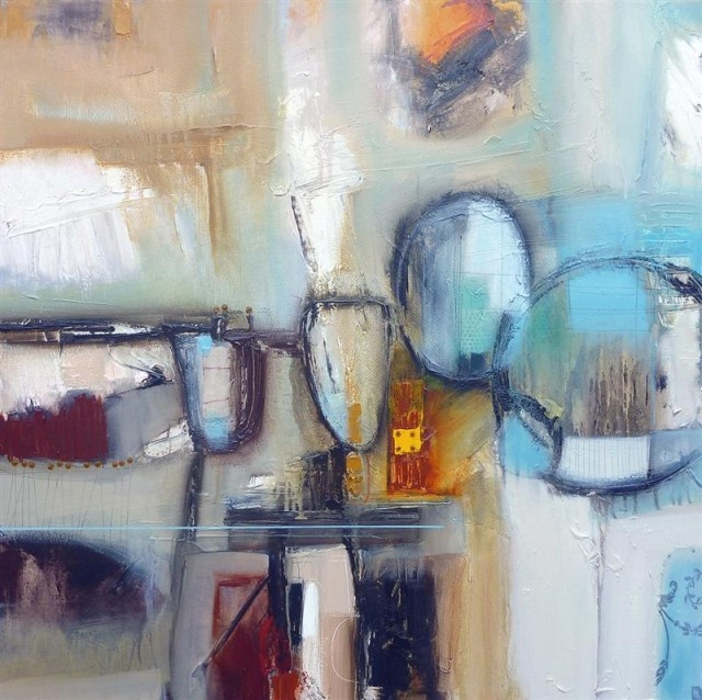 Rob Forlani, Title: Bop   Medium: Oil on Canvas  Size: 100 x100 cms