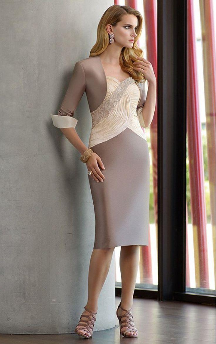 Multi Colours Sheath Tea-length Shoulder Straps Dress