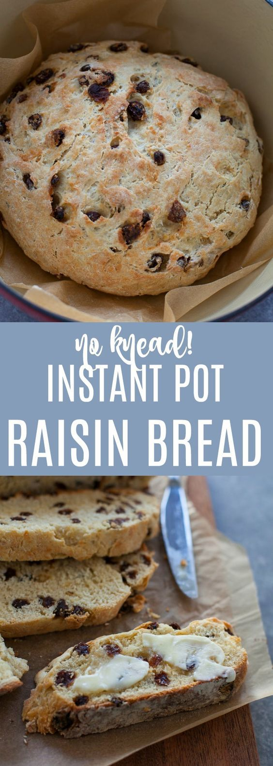 Use the instant pot to help your bread rise in just a few hours, no kneading required! This Instant Pot Raisin Bread is an old family recipe that I tweaked to be able to make in a fraction of the time.