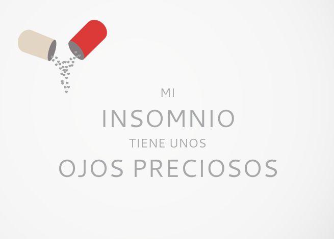 Tarjeta Mi insomnio tiene unos ojos preciosos My insomnia has beautiful eyes