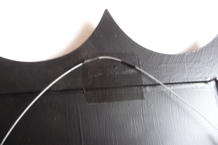 Anti slip on the wire, this helps reduce any unnecessary movement along the wire. The tape behind is to help slow down any erosion of the wall screw into the back of the mirror itself. We think of almost everything here at FunkyMirrors. On FaceBook Now..!