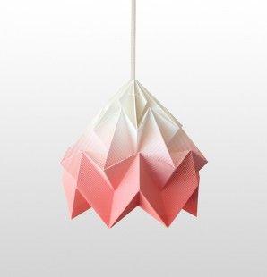 Moth gevouwen papieren origami lamp gradient koraal