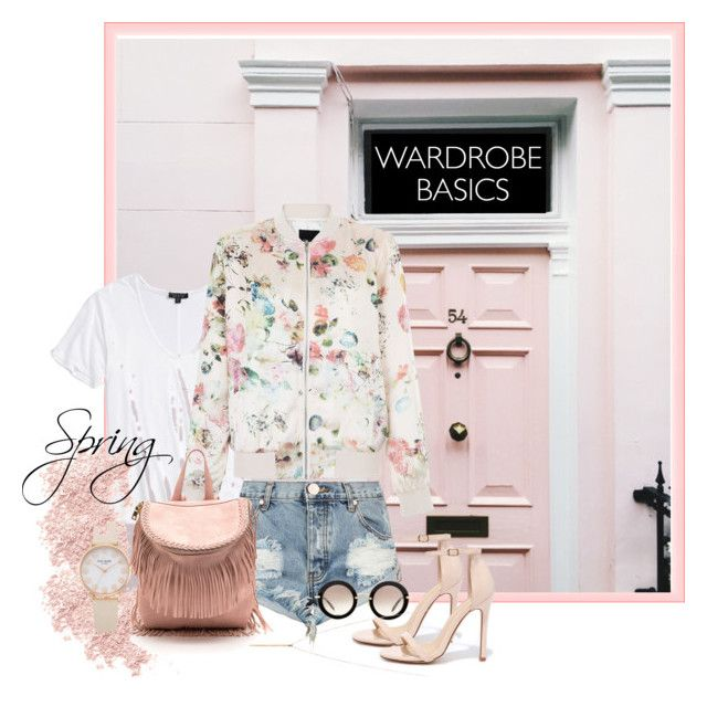 Spring | Wardrobe Basics by bosko on Polyvore featuring polyvore, moda, style, Topshop, One Teaspoon, Liliana, Miu Miu, Bare Escentuals, fashion, clothing, Spring, floral, Pink, denim and wardrobebasics