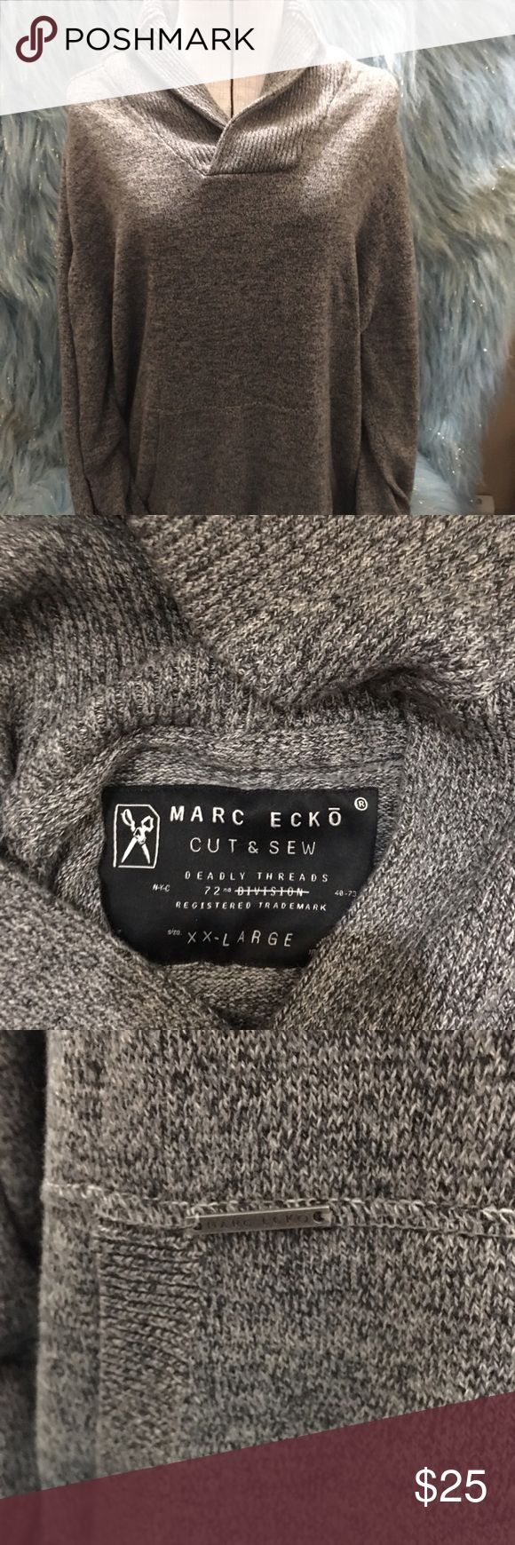 Marc Ecko cowl neck sweater Heathered grey cowl neck sweater. NWOT. If you have any questions please feel free to ask and as always reasonable offers are welcome!!! Marc Ecko Sweaters