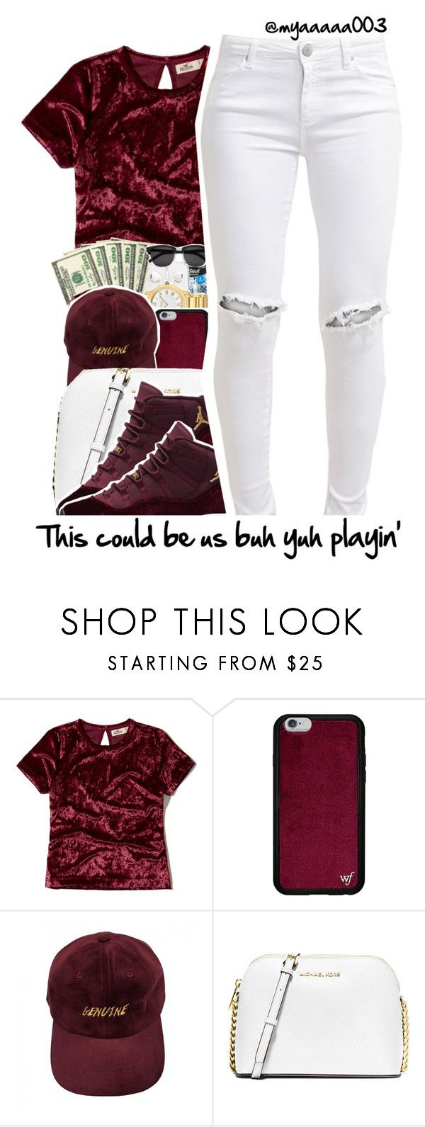 """This Cute"" by myaaaaa003 ❤ liked on Polyvore featuring Hollister Co., MICHAEL Michael Kors and FiveUnits"
