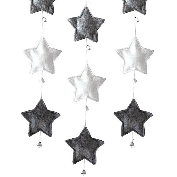 Kauniit ja ajattomat tähtinauhakoristeet syntyvät myös huovasta!
